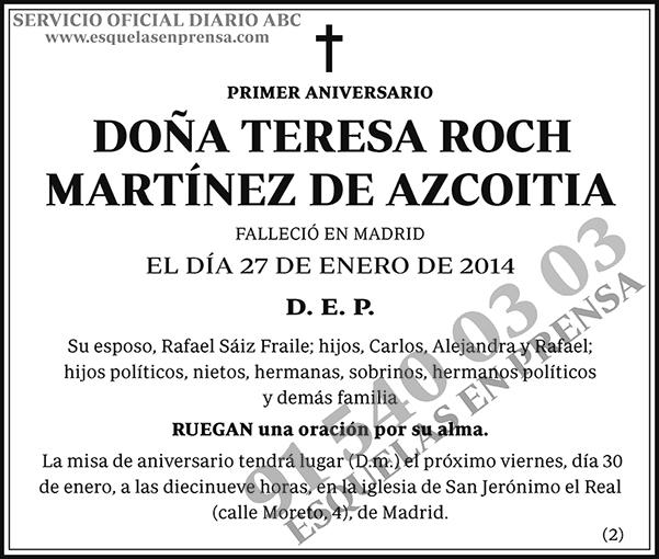 Teresa Roch Martínez de Azcoitia